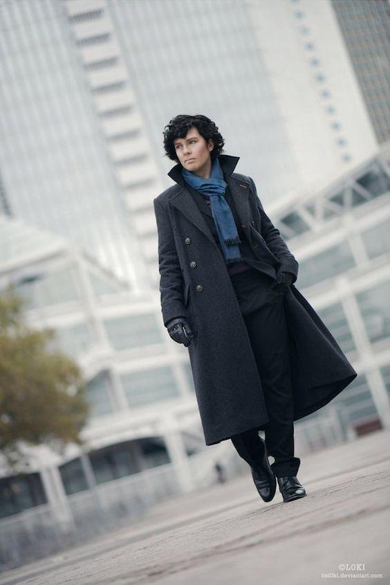 Sherlock #Cosplay #Rule63 Looks almost just like him!