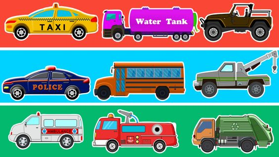 Learn Colors With Street Vehicles | Learn Transport