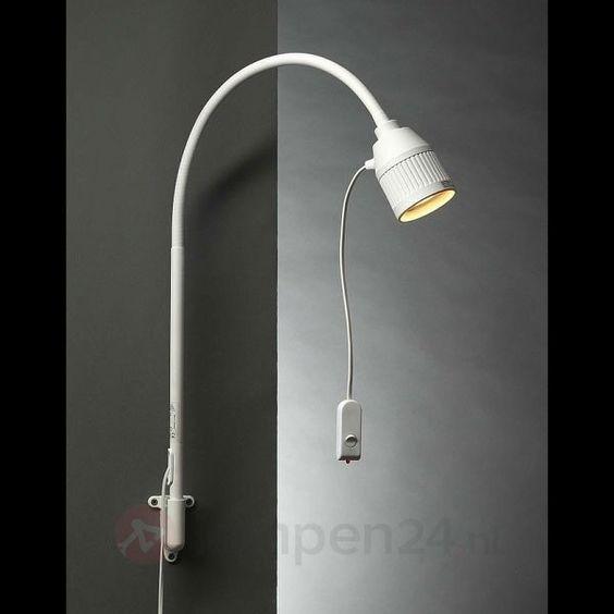 Led-bedlampje met flexarm en rood licht 8524002