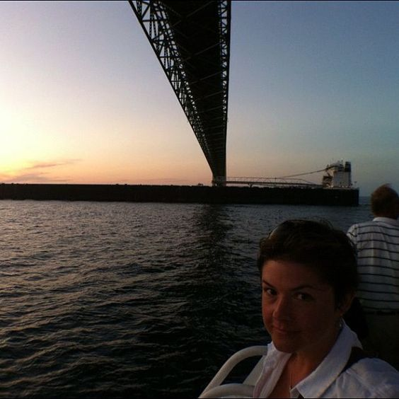 "@jamestodda's photo: ""a bridge, a barge, and a girl"""
