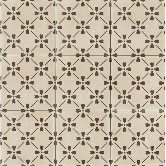 Palazzo 12 X 12 Decorative Tile In Antique Cotto Bloom In 2020 Encaustic Tile Decorative Tile Tile Patterns