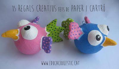Educació i les TIC: 15 regals creatius fets de paper i cartró