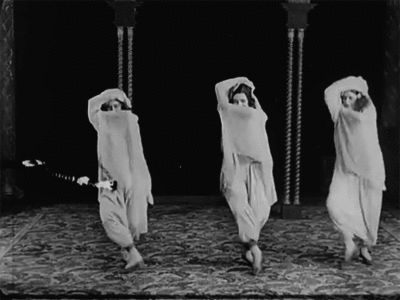 The Swedish Ballet performs 'An Arabian Dance', 1922