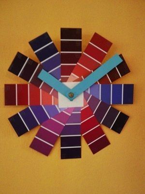 Paint sample clock I might just have to make me one of these!!!