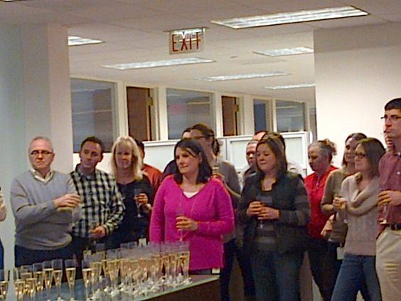 Celebrating the updated office space!