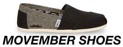 Movember Shoes Available on PhatRice @ http://phatrice.com/innovators/toms.html #movember #shoes #causes