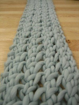 Fast Knit Scarf Pattern : 3 hour scarf, co even (10), K1 *(YO, K2tog), repeat from * across to last sti...