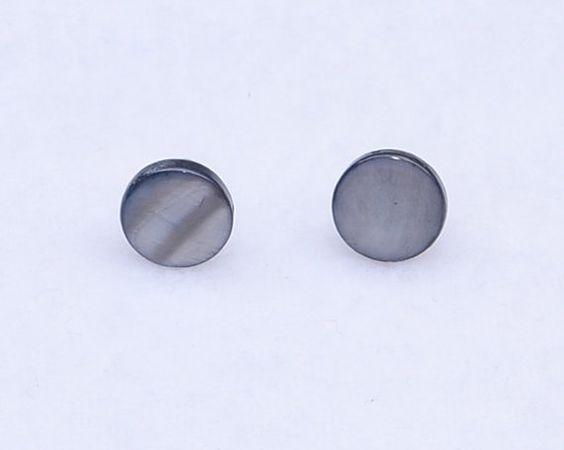 Round Stone Bead Stud Earrings by JewelryandNeatThings on Etsy, $5.00