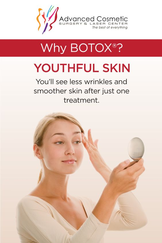 You'll see less wrinkles and smoother skin just days after a #botox treatment! What are you waiting for?