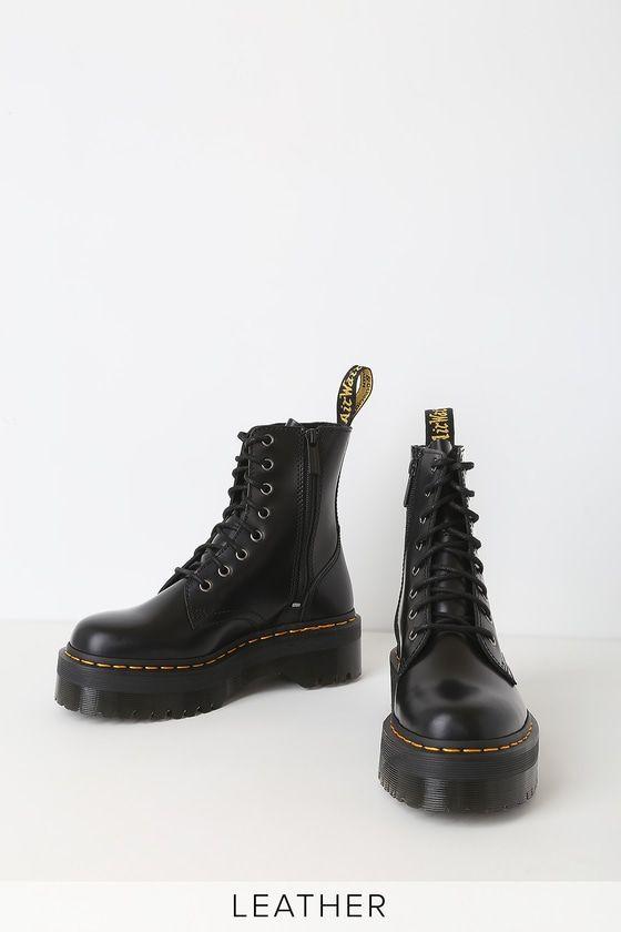 Dr. Martens Jadon 8 Eye Boot Lace up Boots Black Polished