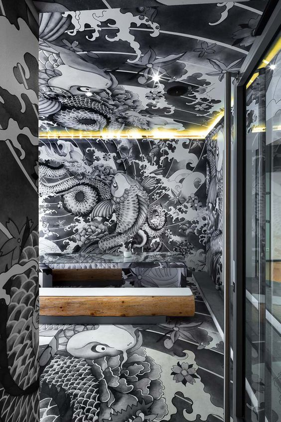 Vincent coste japanese restaurant koi yakuza tattoo for Koi sushi aix