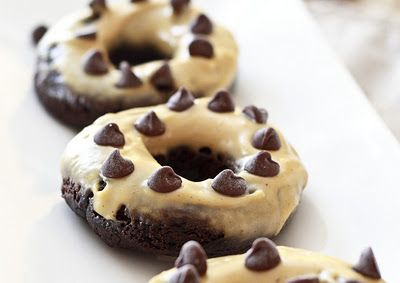 Chocolate Peanut Butter Donuts...gluten free, low carb!