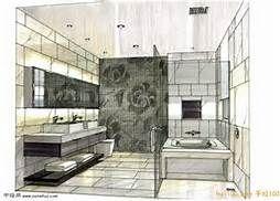 bathroom rendering, master bath, sketch, gray