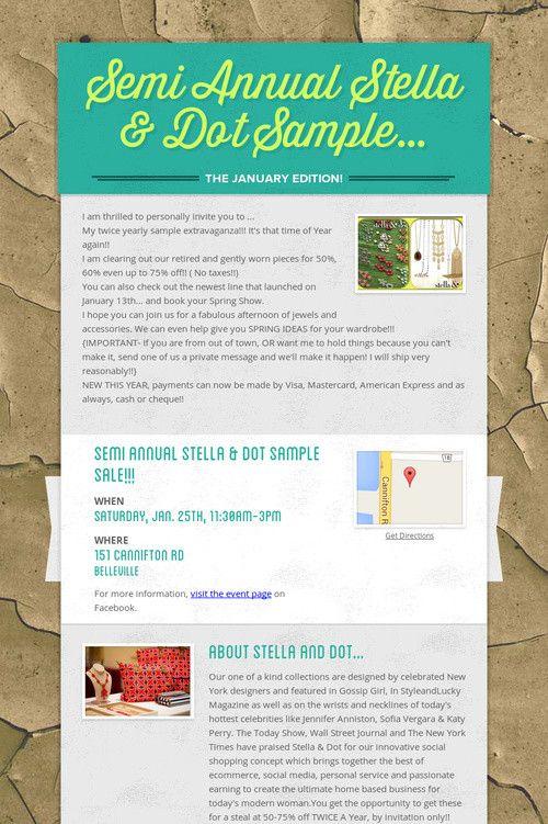 Cacia's Winter 2014 Sample Sale extravaganza!