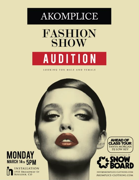 Fashion Show Auditions Flyer | Fashion Show | Pinterest | Flyers ...