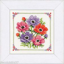 Vervaco Kit Point de Croix compté Anémones-Counted Cross Stitch Kit Flowers