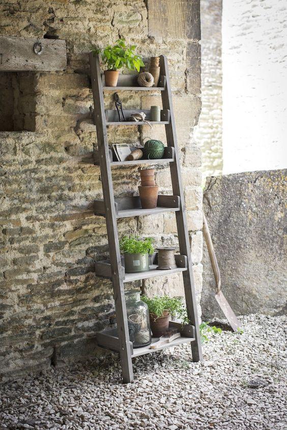 houten decoratie ladder Aldsworth   Opbergrekken hout