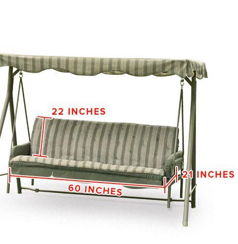 Walmart Seacliff Swing Replacement Seat Cushion Porch Swing