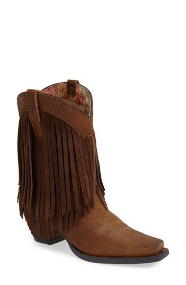western boots fringes and boots on