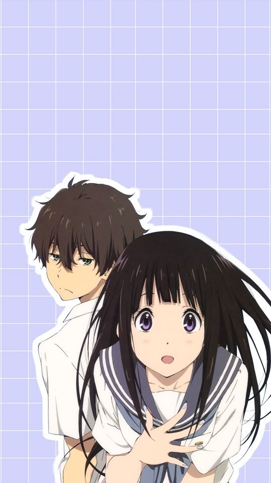 Hyouka Anime Phone Wallpaper Enjoy Gambar Anime Seni Anime Ide Menggambar