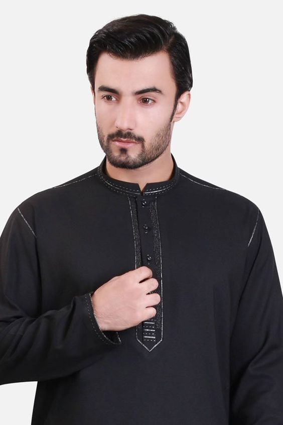 Black Kurta by EdenRobe