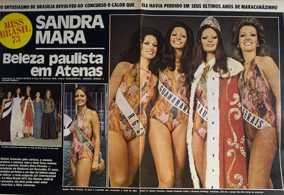 Miss Brasil Sandra Mara Ferreira 1973