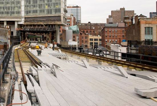 High Line under construction: James Corner Field Operations & Diller Scofidio + Renfro