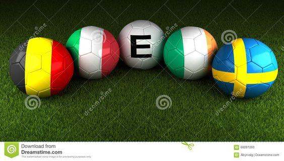 UEFA-EURO 2016 Bälle Mit Der Flagge Von Gruppe E Belgien Italien Irel Redaktionelles Bild - Bild: 68281260
