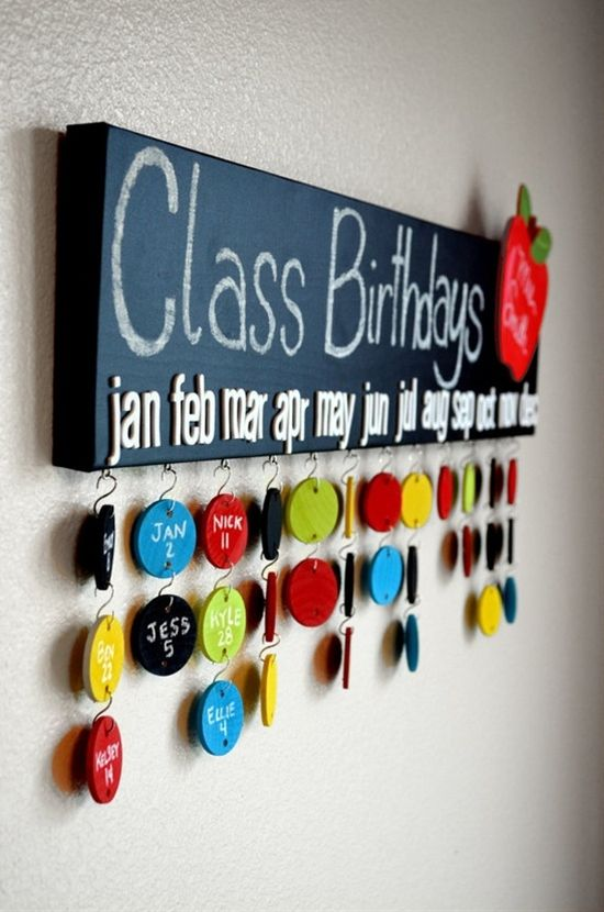 Great idea!! not just for teachers but grandparents!!!! or families with large families and each family is a certain color so you know who belongs to which family!!! - Click image to find more Education Pinterest pins