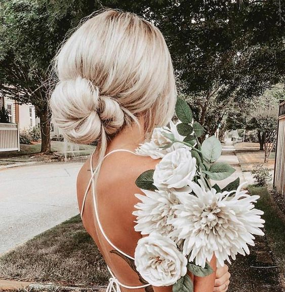 Low bun hairstyle