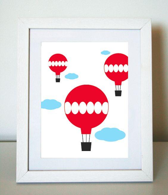 Hot Air Balloons 8X10 Art Print/Wall Art $20