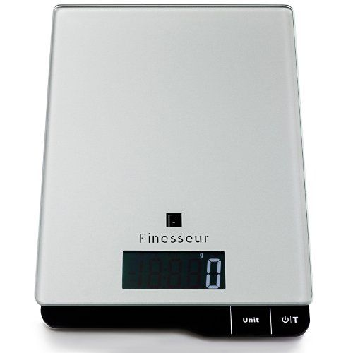 Finesseur Kitchen Scale - Digital Food Scale - High Precision Sensors - Slim Stylish Glass Design -