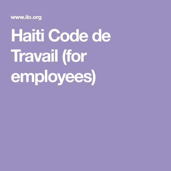 Haiti Code De Travail For Employees