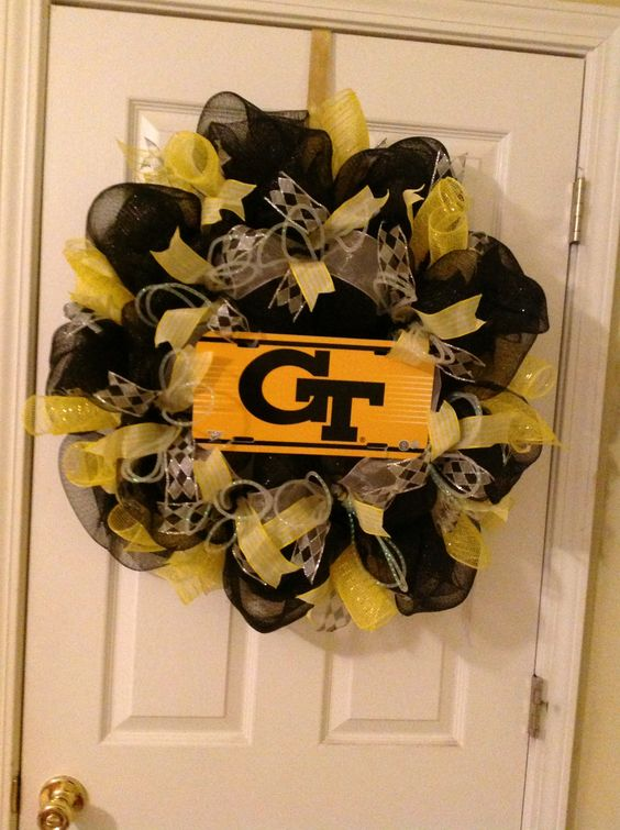 GA Tech wreath by Mimi