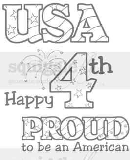 """""""Proud"""" digi stamp by Diana Garrison on squigglefly.com"""