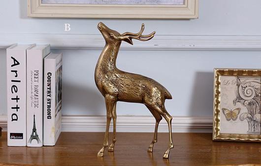 Bronze Deer Figurine