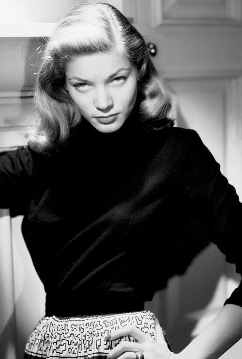 Lauren Bacall - What Actually Happens When You Put On A Black Turtleneck? by Rachel Syme - http://refinery29yahoo.tumblr.com/:
