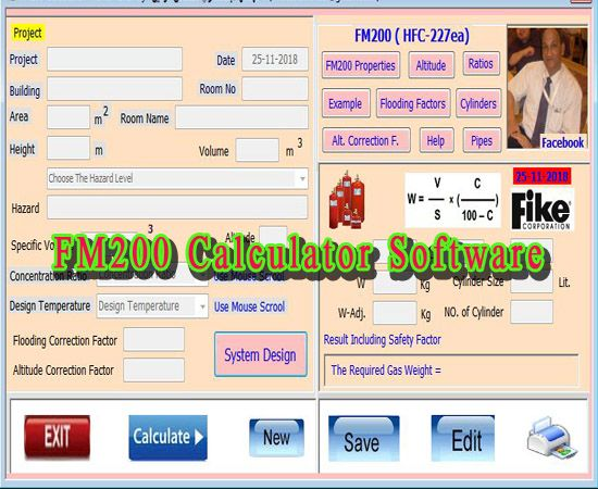 Free Download Fm200 Calculator Software Free Program For Calculation Of Fm 200 Fire Suppression Syste Fire Suppression System Software Fire Protection System