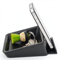 Bluelounge Nest iPad-Ständer & Allzweckschale schwarz