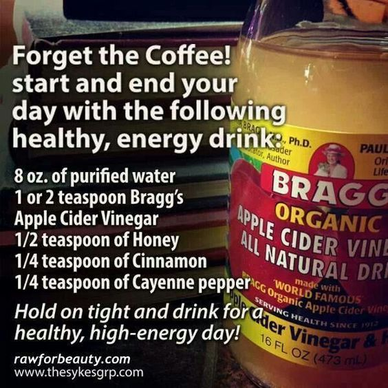 Apple Cider Vinegar natural, energizing drink. vinegar doesn't go bad under most conditions, and RAW apple cider vinegar has a lot of trace nutrients and B vitamins often missing form a survival pantry.