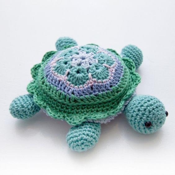 Free Crochet Patterns For Sea Animals : Sea turtles, Amigurumi and Turtles on Pinterest
