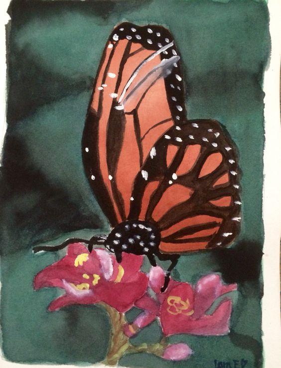 Watercolor illustration Made by Lara. E