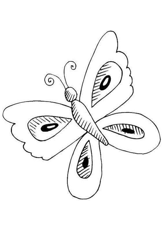 Un papillon avec des ailes à motif ajouré, à colorier