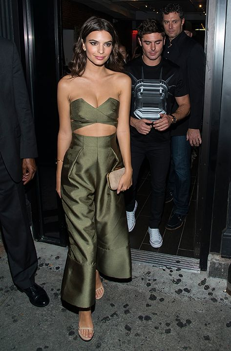 Emily Ratajkowski carrying the Jimmy Choo CLOUD clutch