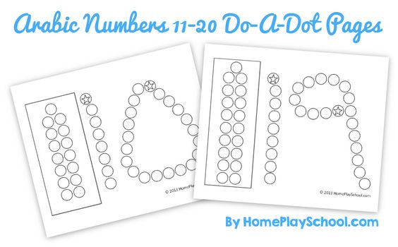 Do A Dot, Numbers And Free Printable On Pinterest