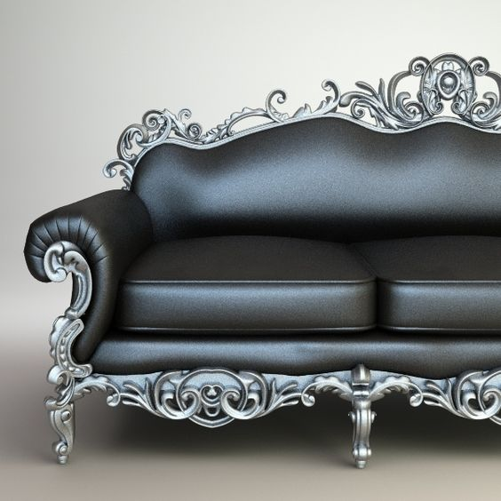 Leather and metal sofa. Steam punk is not my style but this could work in a room with that theme reminds me of kat von d <3 LA Ink: