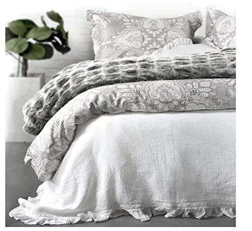 Tahari Bedding 3 Piece King Size Luxury Cotton Duvet Cover Set Geometric Medallion Pattern In Shades Of Gra Tahari Bedding Luxury Duvet Covers Duvet Cover Sets