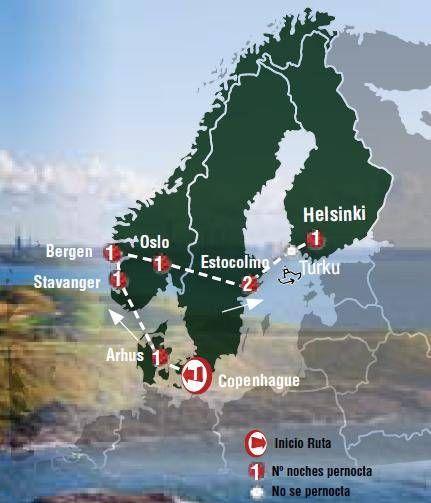 Oferta de viaje a Dinamarca. Entra, informate y reserva el viaje Circuito de 10 dias por la Gran Escandinavia salidas los miercoles desde Copenhague