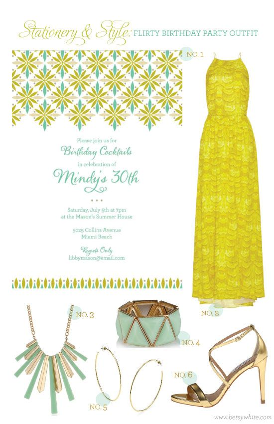 Stationery + Style: Flirty Birthday Party Outfit
