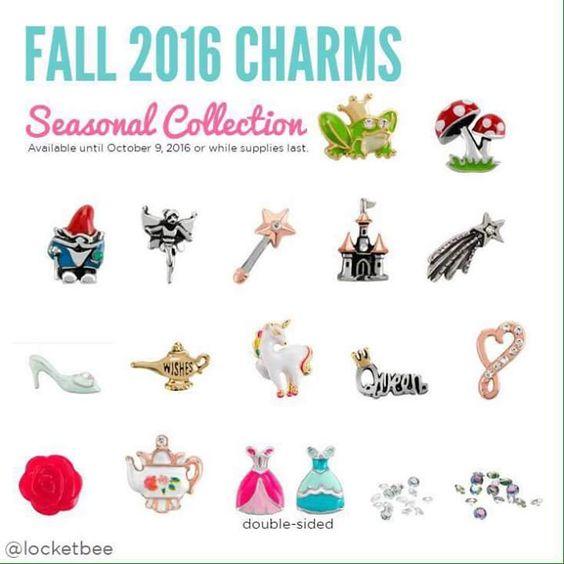 Origami Owl. New Fall seasonal exclusive Charms. www.CharmingLocketsByAline.OrigamiOwl.com